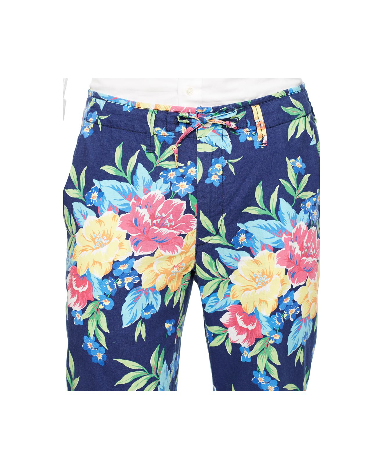 e0bf9c5a4892 Lyst - Polo Ralph Lauren Straight-fit Floral-print Pants for Men