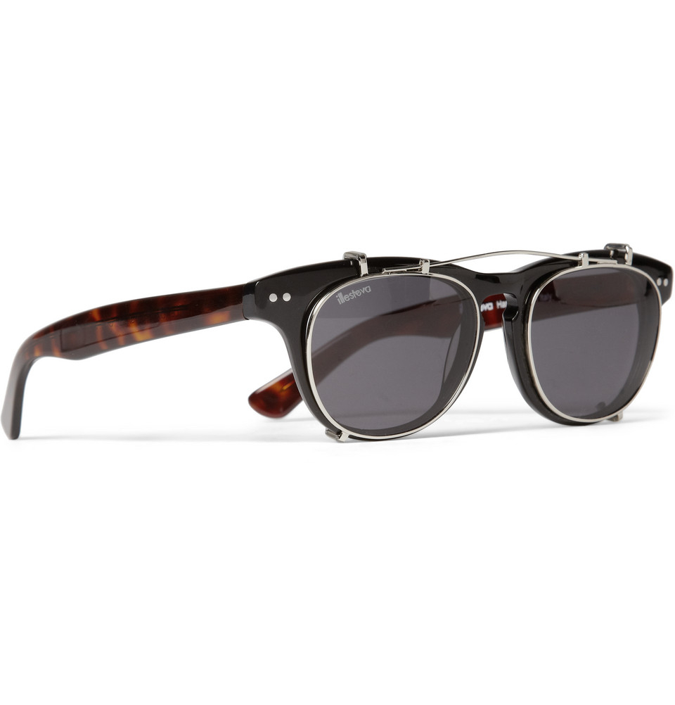 Lyst - Illesteva Lenox Detachable Front Square-Frame Sunglasses in ... 66ff2d0958