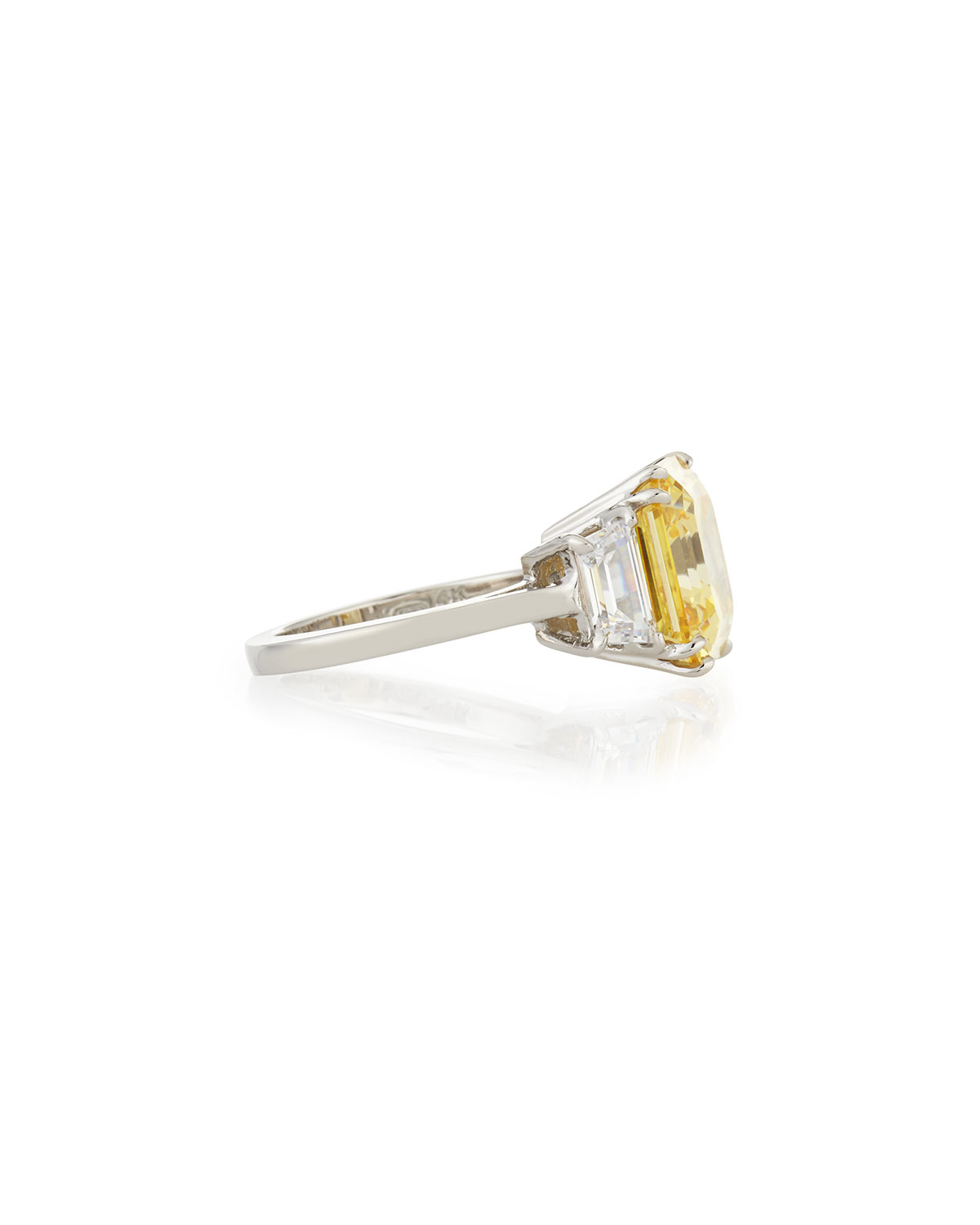 Fantasia Emerald-Cut Canary Solitaire Ring 8SZ2P