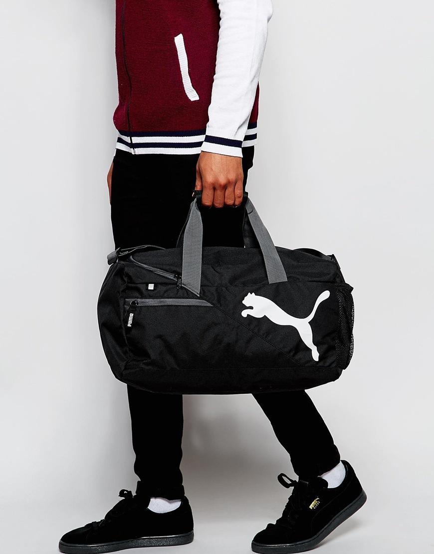 f28af7c8a561 Lyst - PUMA Fundamentals Duffel Bag In Black 7349901 in Black for Men