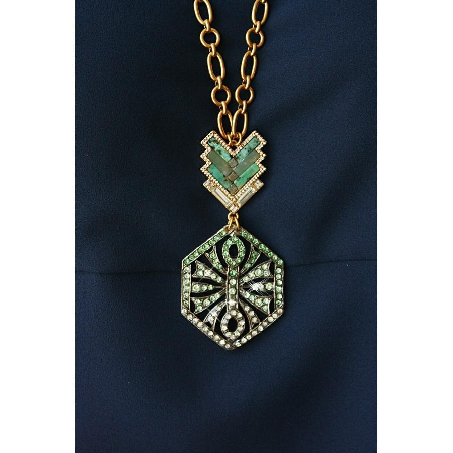 lulu ortigia pendant necklace in metallic lyst