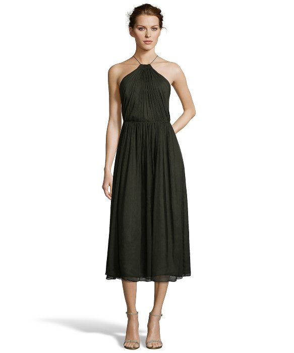 Jill stuart silk chiffon lace dress