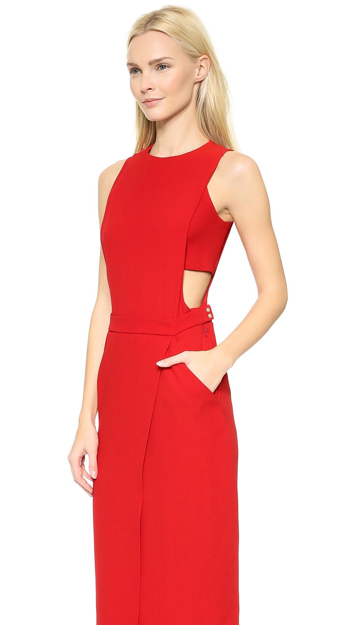 A.L.C. Monty Dress - Red in Red - Lyst