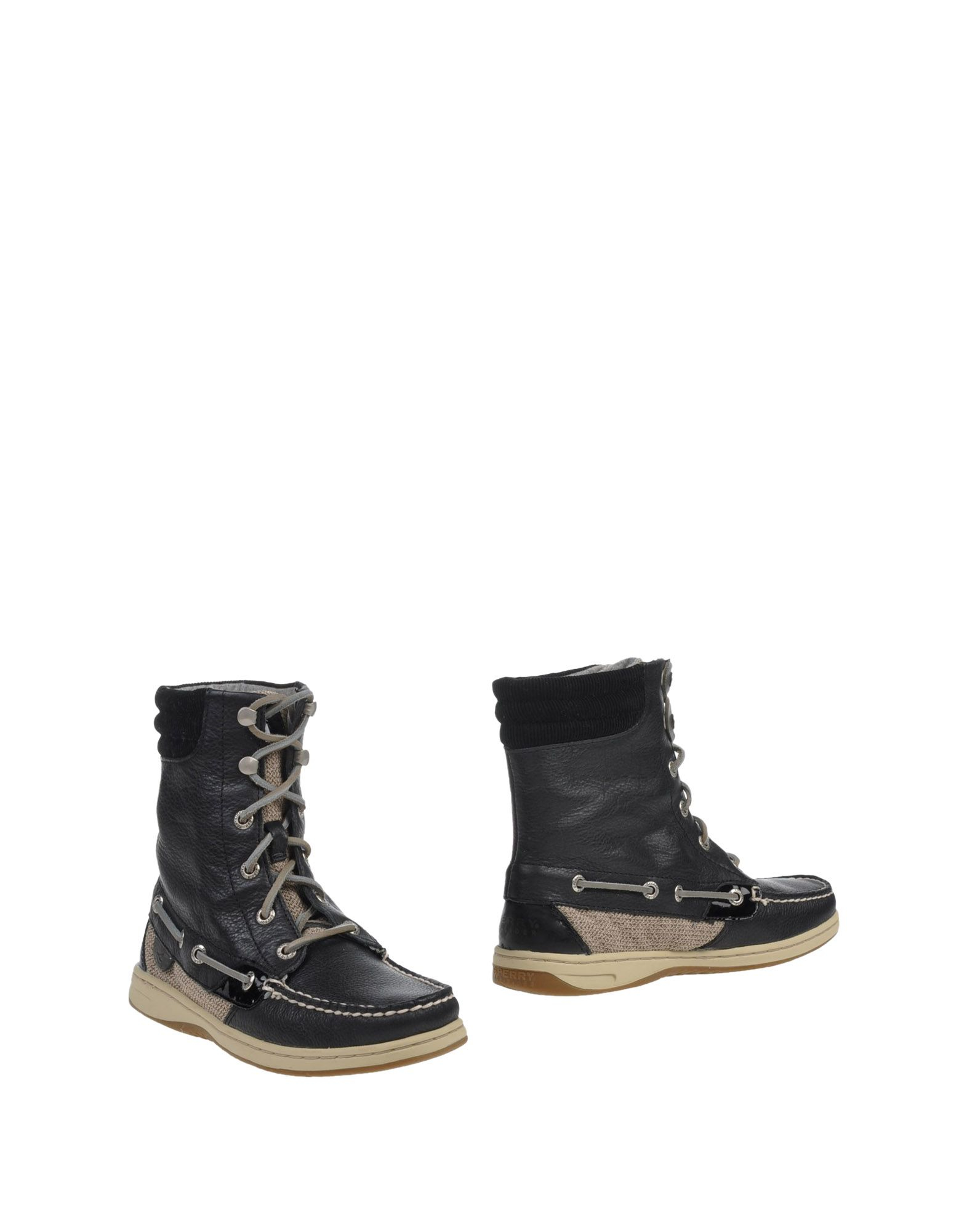 sperry top sider ankle boots in black lyst