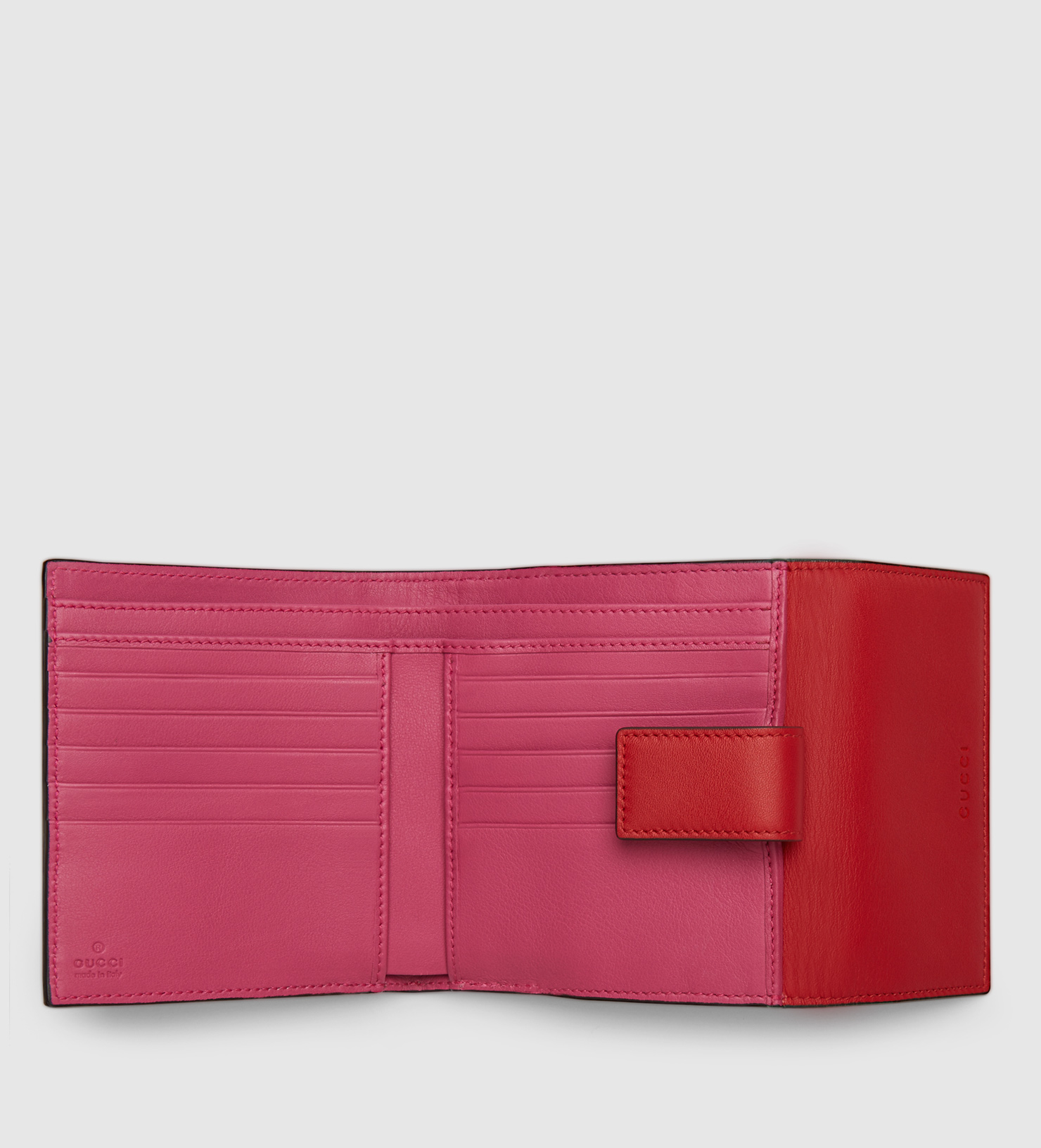 3d13069795e2 Lyst - Gucci Gg Supreme French Flap Wallet