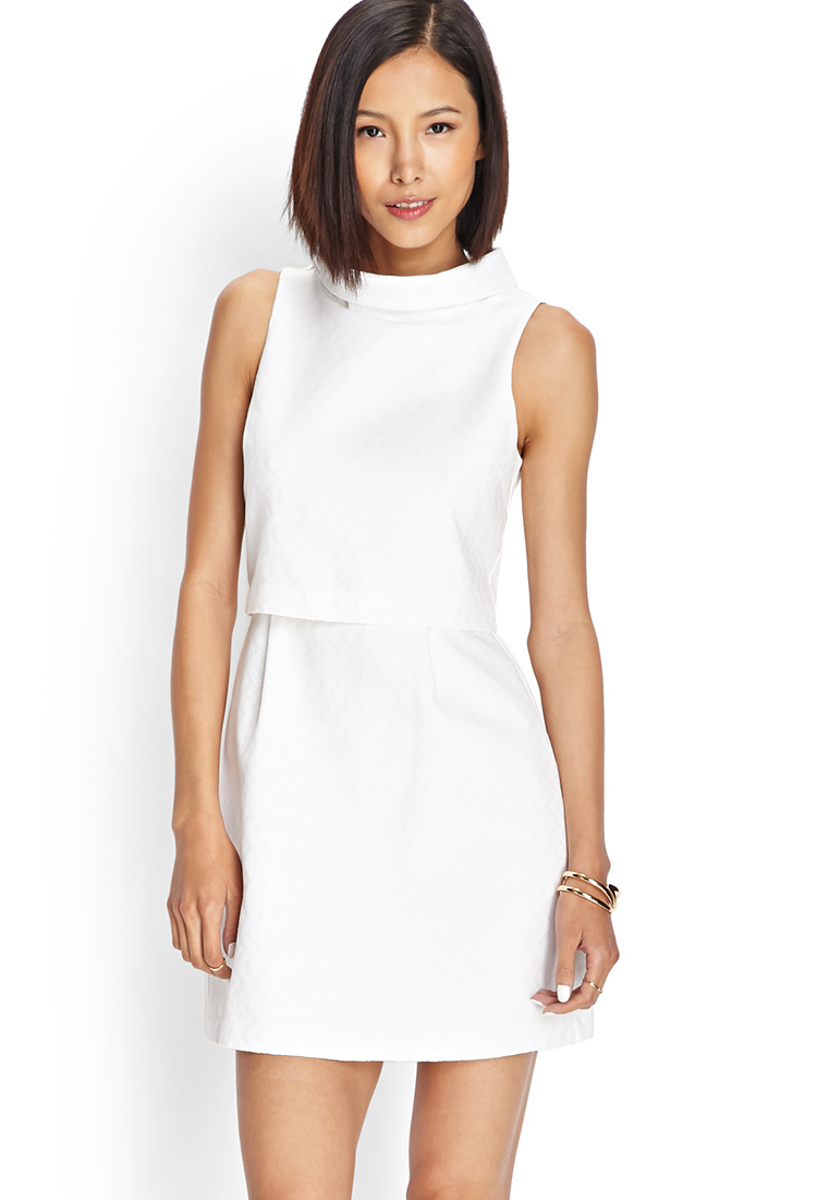 Forever 21 Classic Tiered Dress in White - Lyst