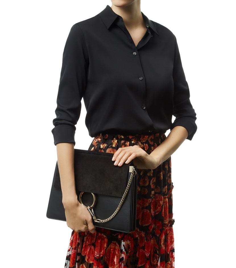 1ab4e98add Chlo¨¦ Medium Faye Shoulder Bag in Black