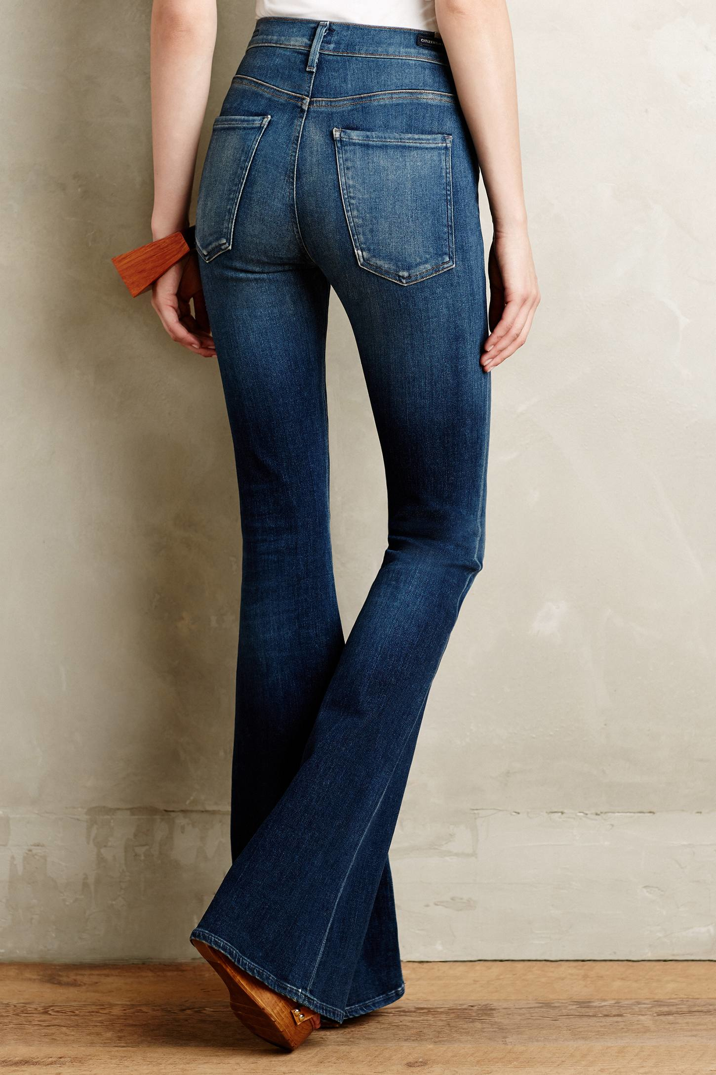 citizens of humanity fleetwood flare jeans in blue lyst. Black Bedroom Furniture Sets. Home Design Ideas