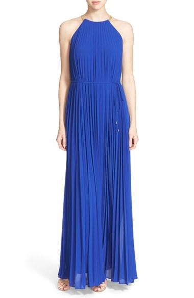 2cf501696b6c8 Lyst - Ted Baker  hannaa  Pleated Maxi Dress in Blue