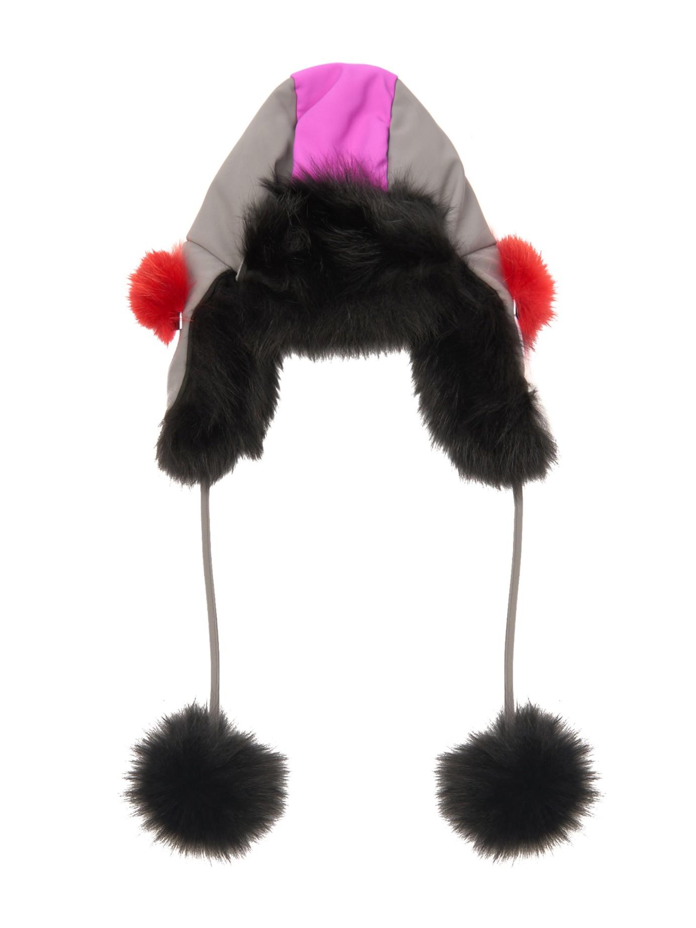 1282a05573a Lyst - Fendi Bag Bugs Fox-Fur Lined Trapper Hat in Pink