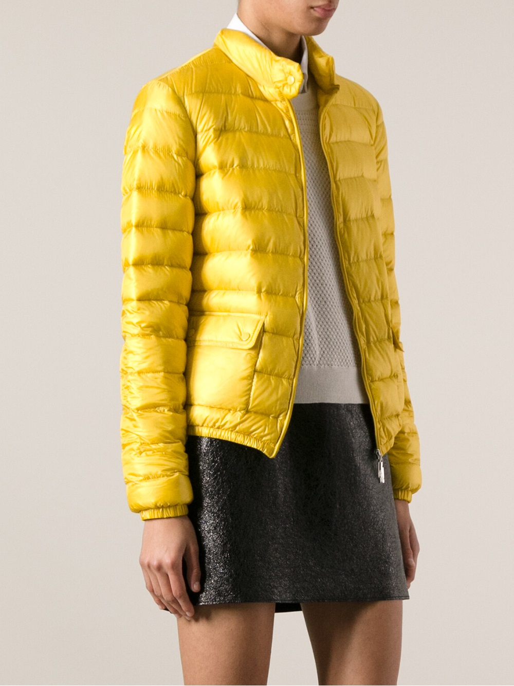 Moncler Padded Jacket In Yellow Lyst