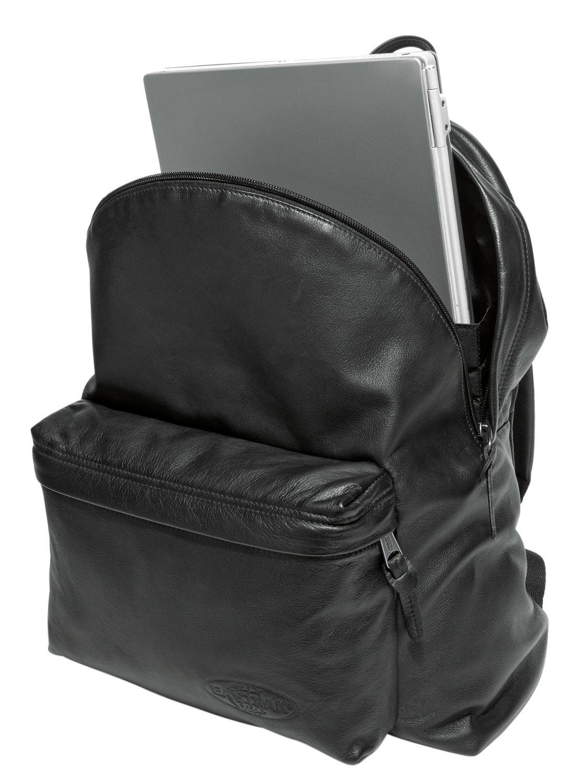 Eastpak 24l Padded Pak'r Leather Backpack in Black for Men | Lyst