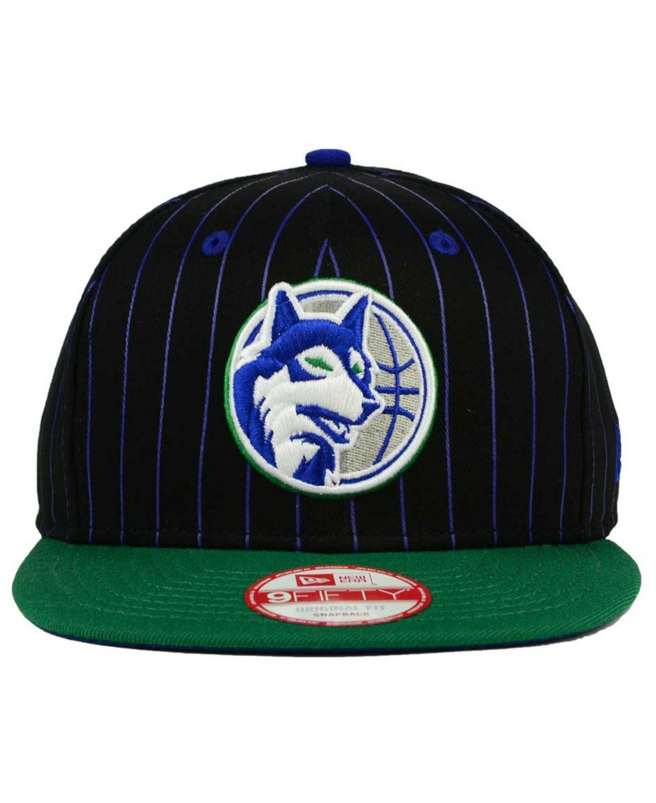 2be75e8930042c KTZ Minnesota Timberwolves Vintage Pinstripe 9fifty Snapback Cap in ...