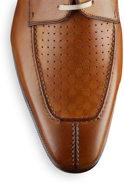 Saks Fifth Avenue Black Label Leather Algonquin Split Toe Shoes In