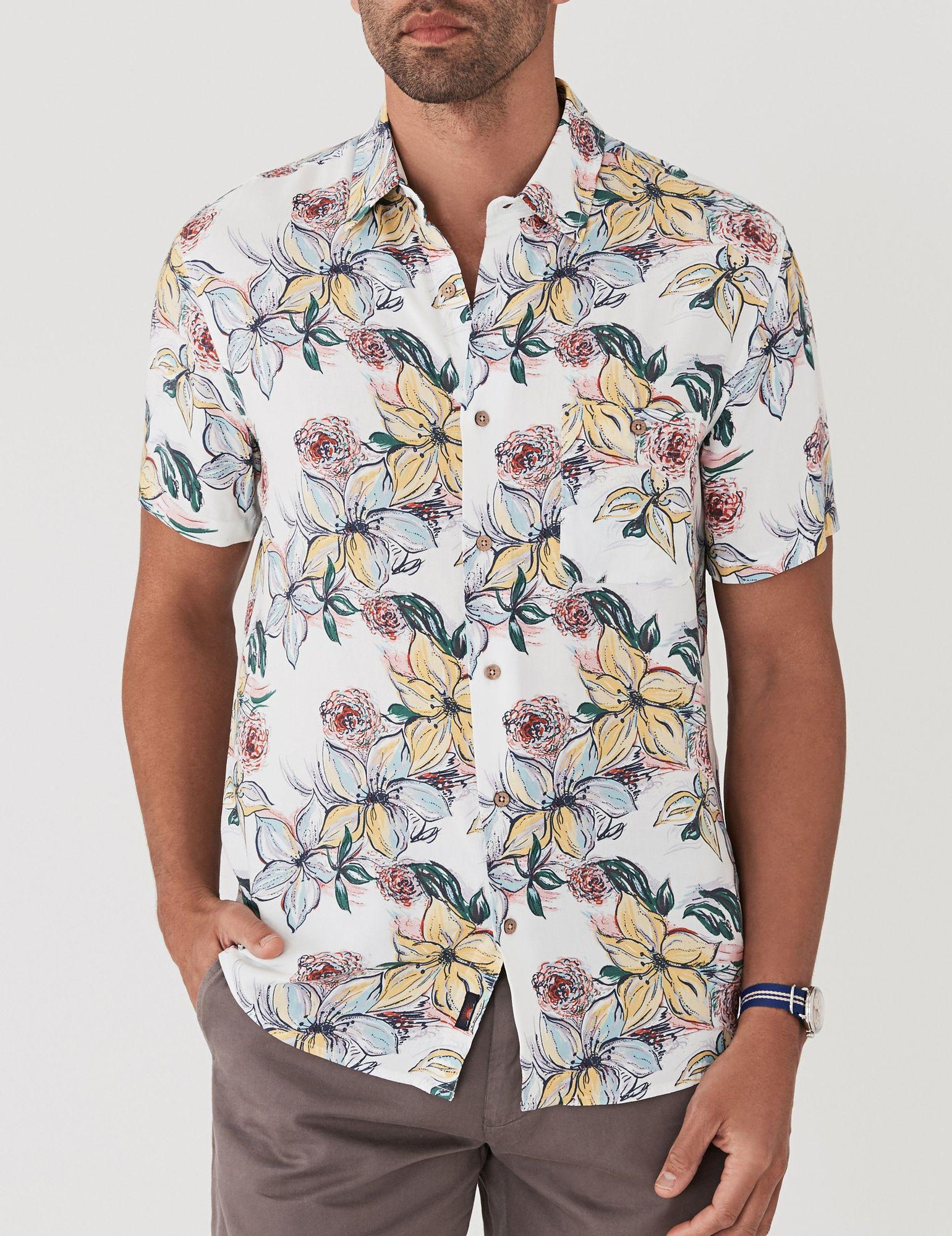 7ee240e3 Faherty Brand Rayon Hawaiian Shirt for Men - Lyst