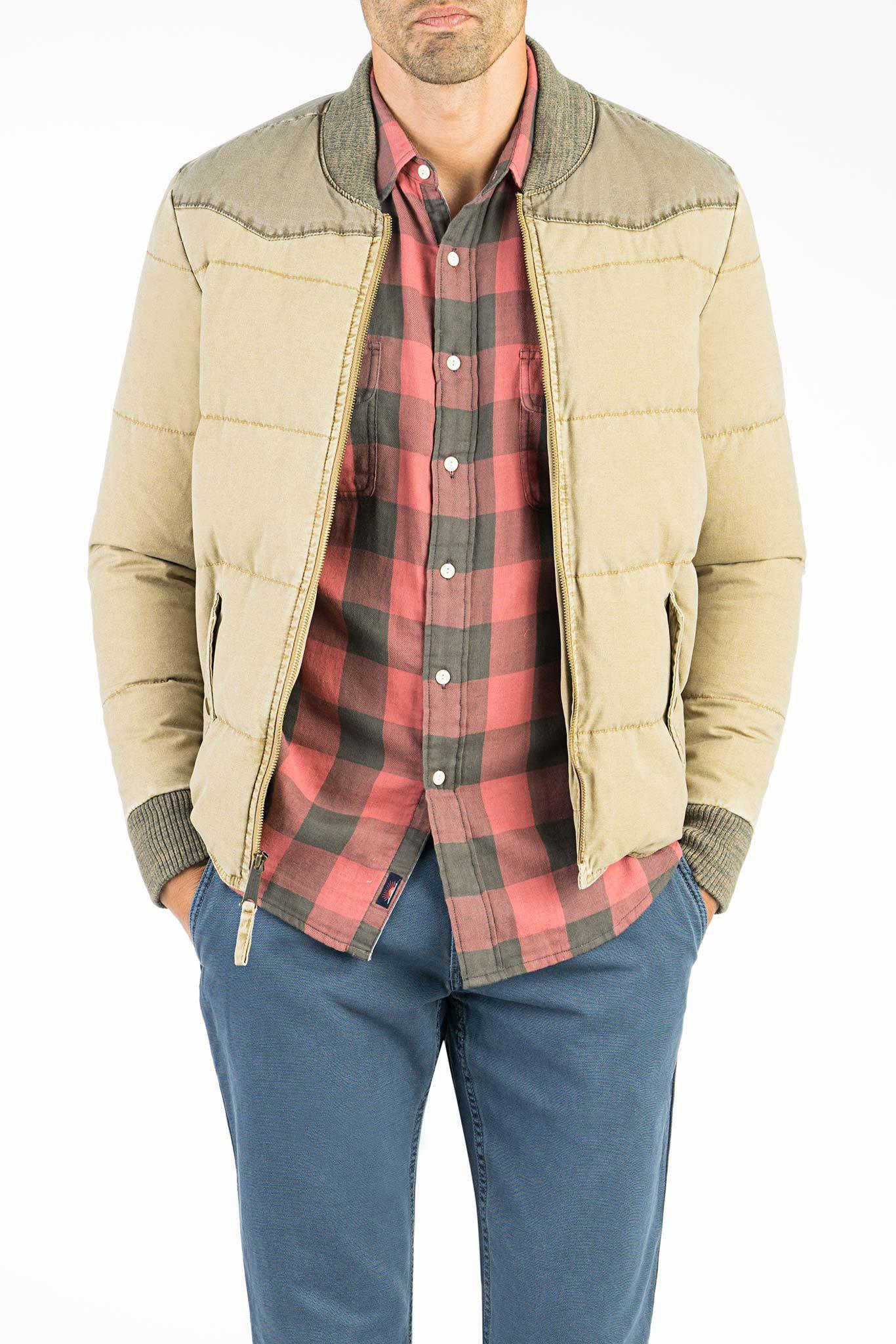 Lyst Faherty Brand Western Jacket In Natural For Men