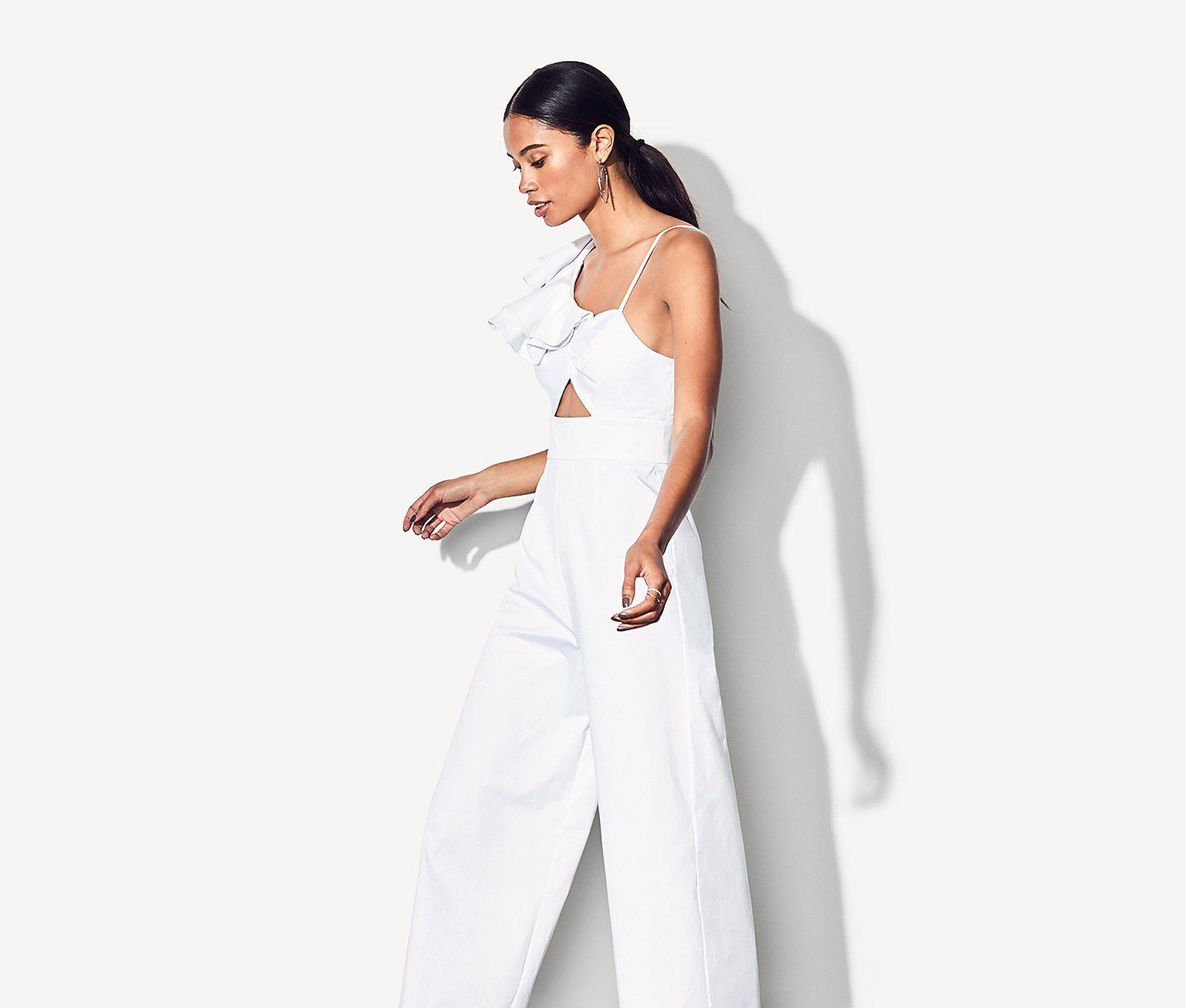 Lyst Fame Partners The Los Feliz Jumpsuit In White