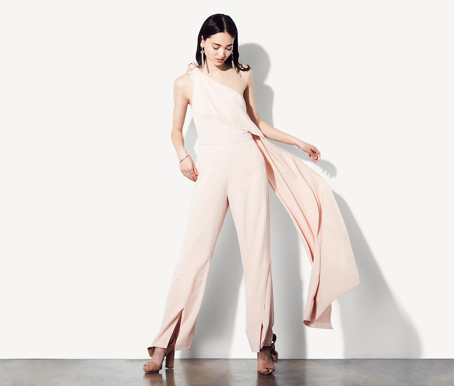Lyst Fame Partners The Solange Jumpsuit In Pink