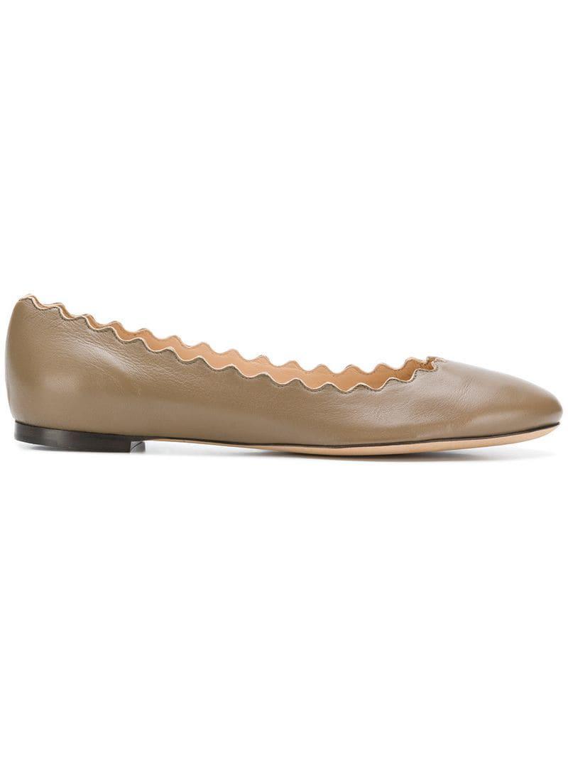 4f2c2652f2b Chloé Lauren Ballerina Flats in Brown - Lyst
