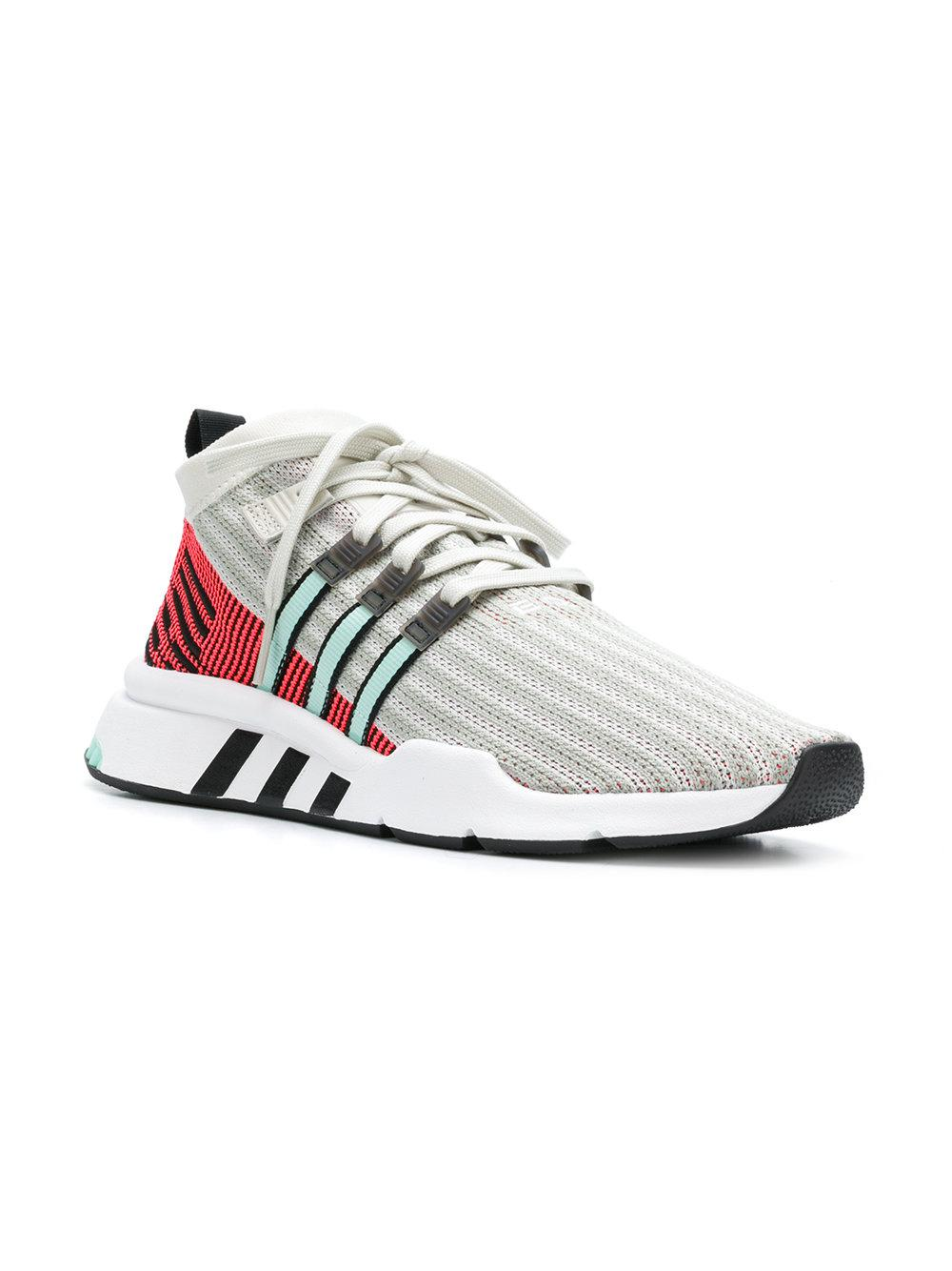 99dc66aab01658 Adidas - White Eqt Support Mid Adv Sneakers for Men - Lyst. View fullscreen