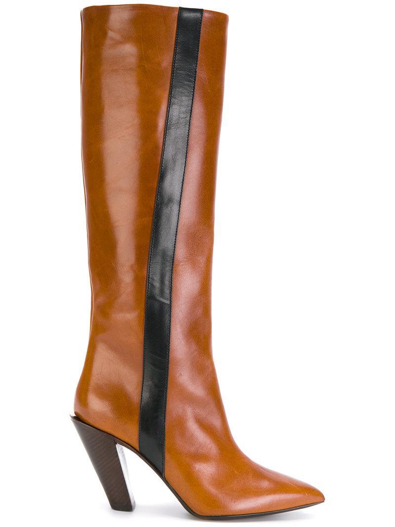 A.F.Vandevorst knee high boots with stripe great deals online wX86T
