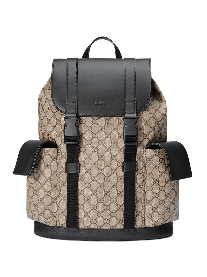 Lyst - Gucci Soft GG Supreme Backpack in Brown for Men 43033492a6