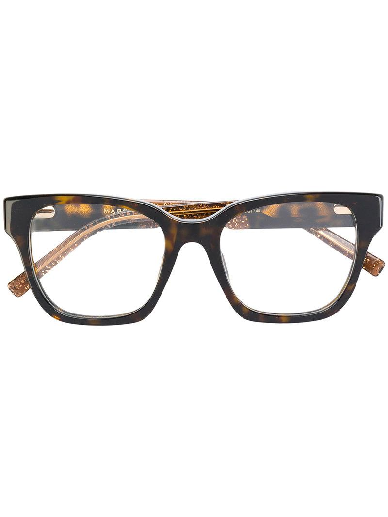 6f457d2536 Marc Jacobs Tortoiseshell Square Glasses in Brown - Lyst
