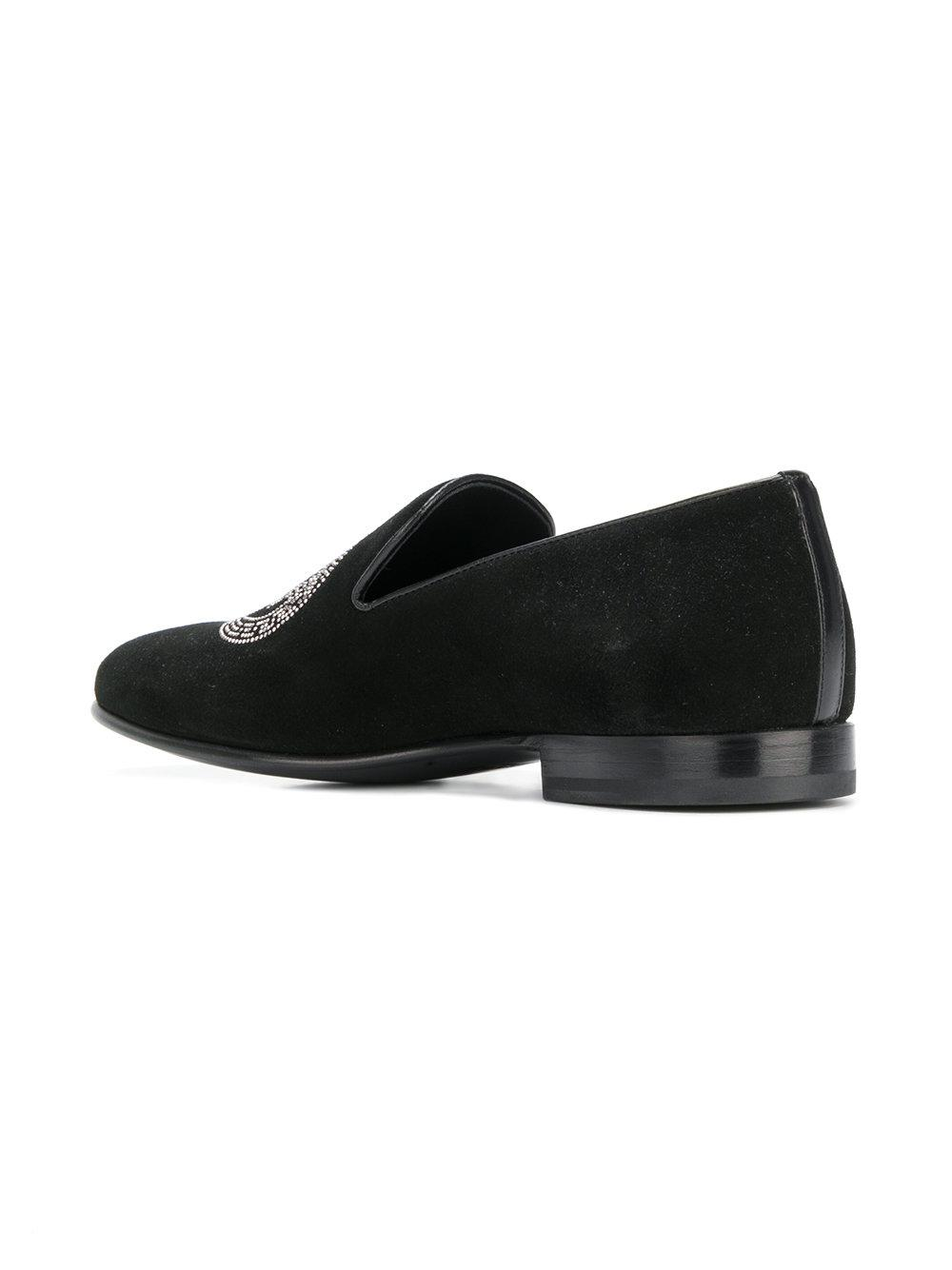 VERSACE Embroidered Medusa loafers Edzx9V
