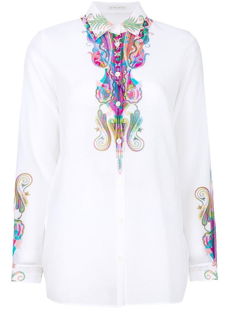 Etro paisley print sheer blouse Cheap Eastbay Original Cheap Online Ylf62