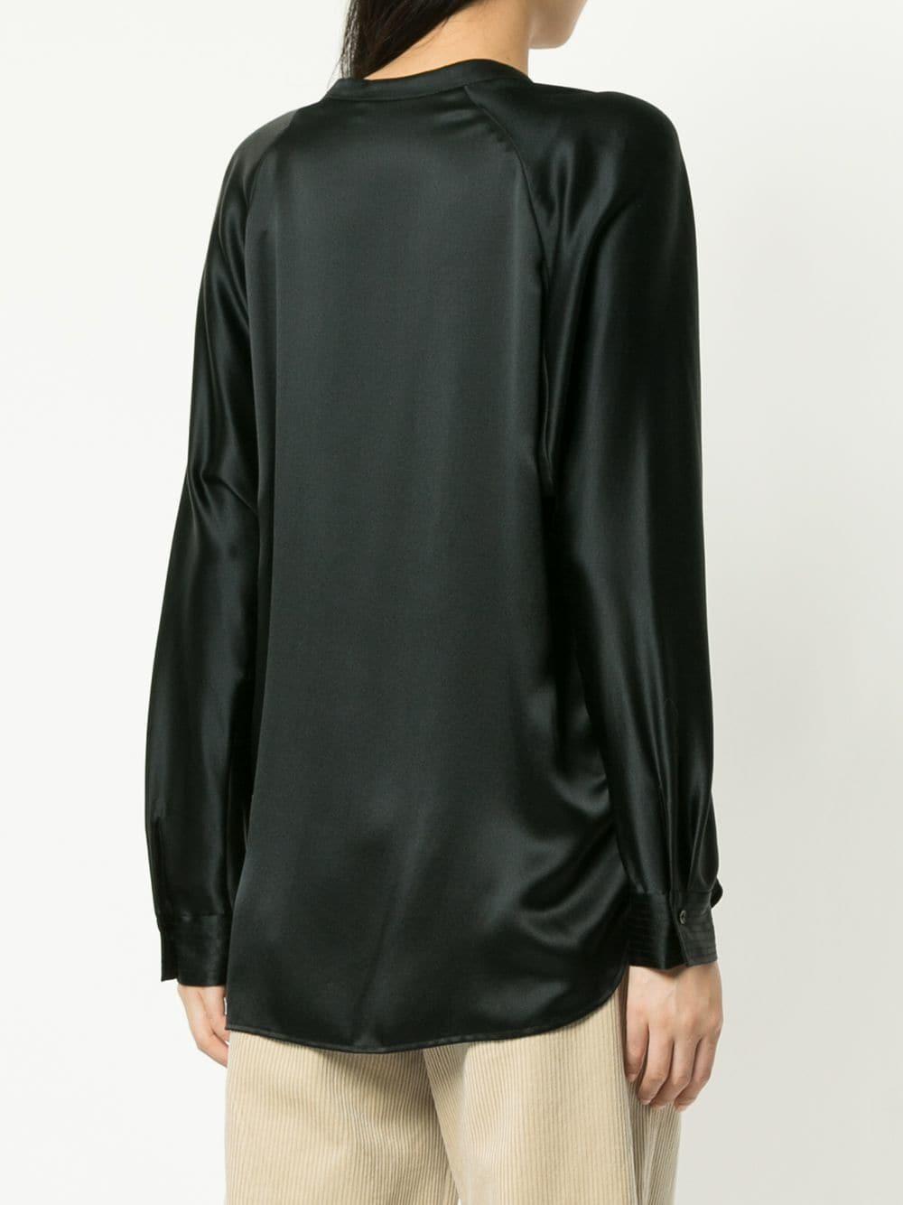 7621b5a85ec38 Lyst - Vince Loose-fit Blouse in Black