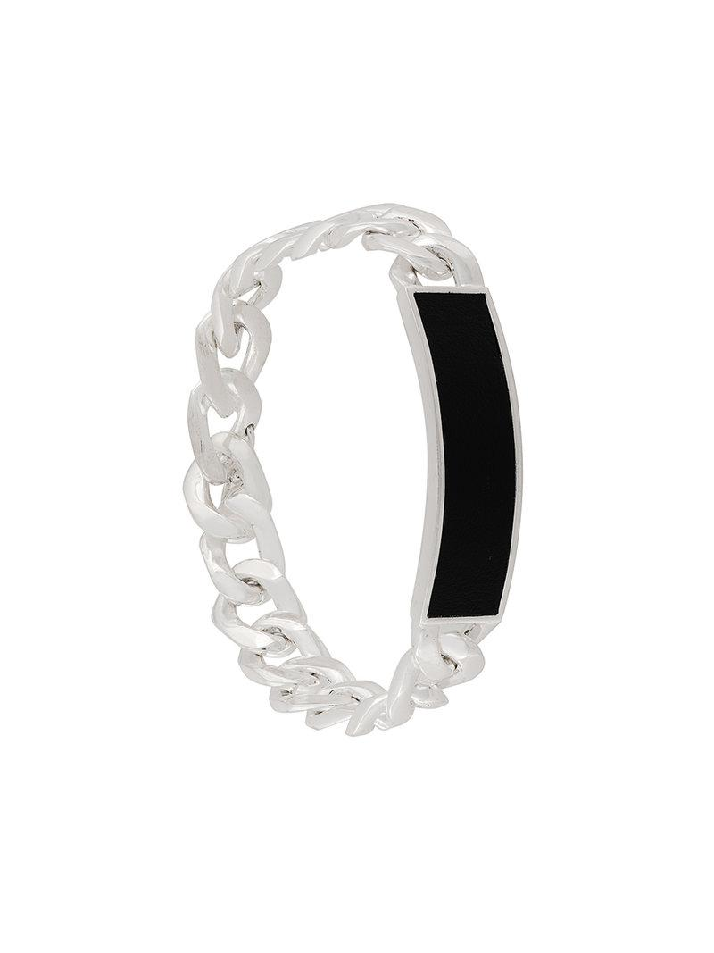 Maison Martin Margiela Anonymous ID bracelet - Metallic 64ghhVR8Do