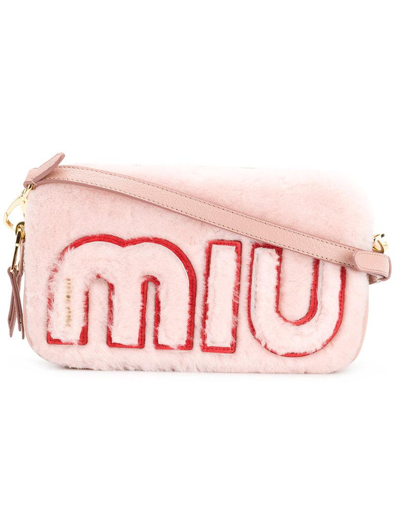 Gallery. Previously sold at  Farfetch · Women s Bag Charms Women s  Shearling Bags Women s Miu ... ec522f3db5