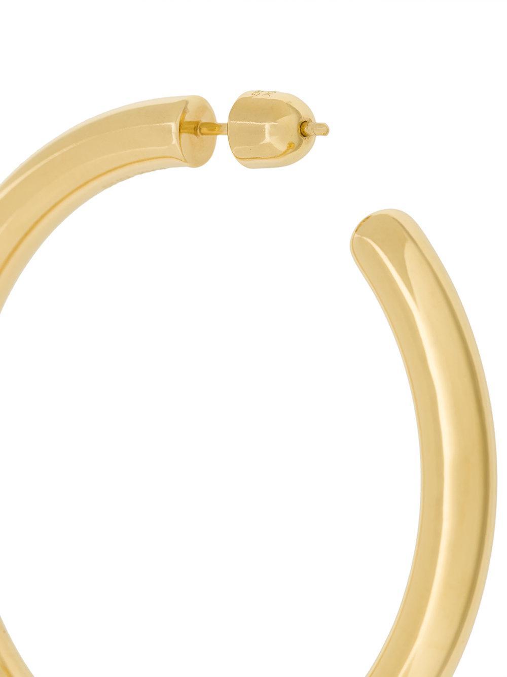 Maria Black Ruby 50 hoop earring - Metallic 18wrB