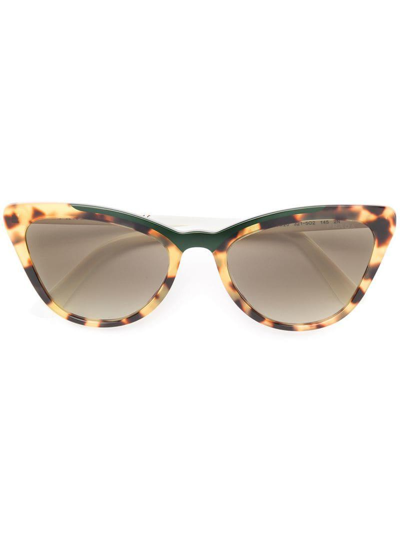 393e9e8dcb1f Lyst - Prada Cat-eye Shaped Sunglasses in White