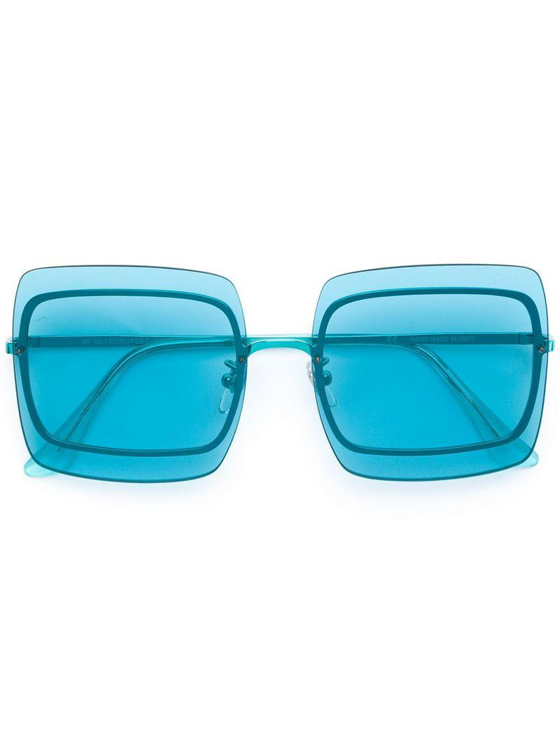 bc6b66dcd528 Retrosuperfuture - Blue Gia Sunglasses - Lyst. View fullscreen