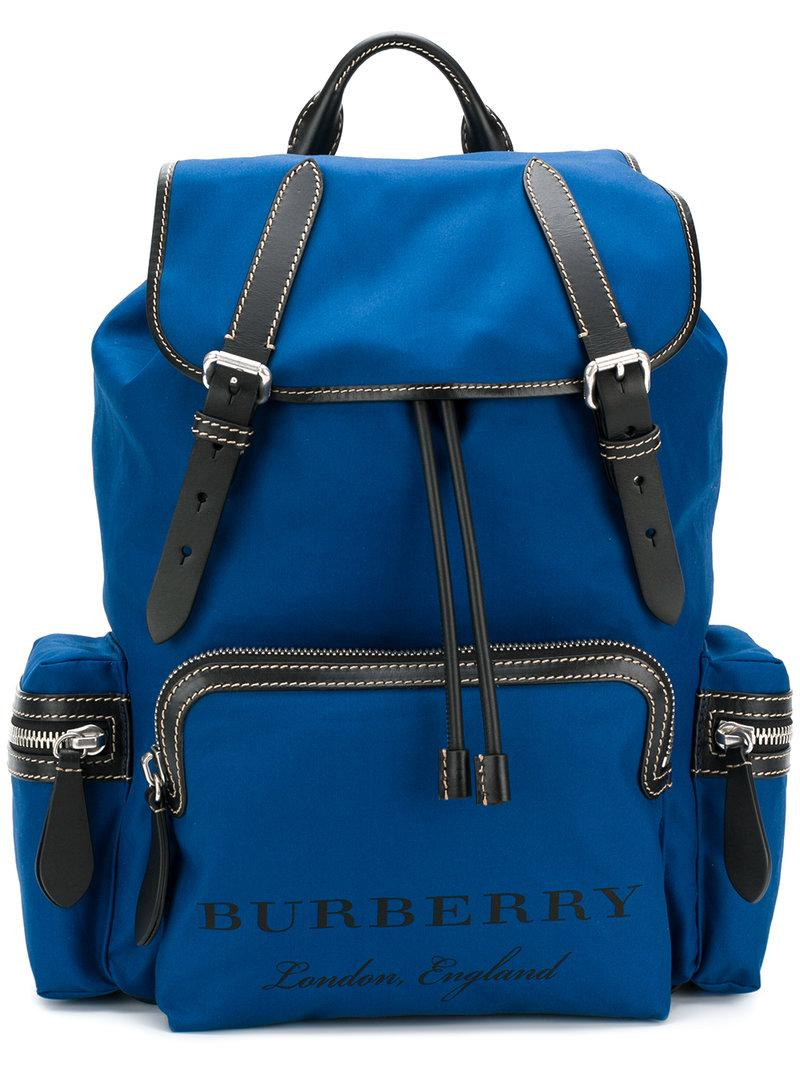 a5acb472f37a Burberry Rucksack Backpack in Blue for Men - Lyst