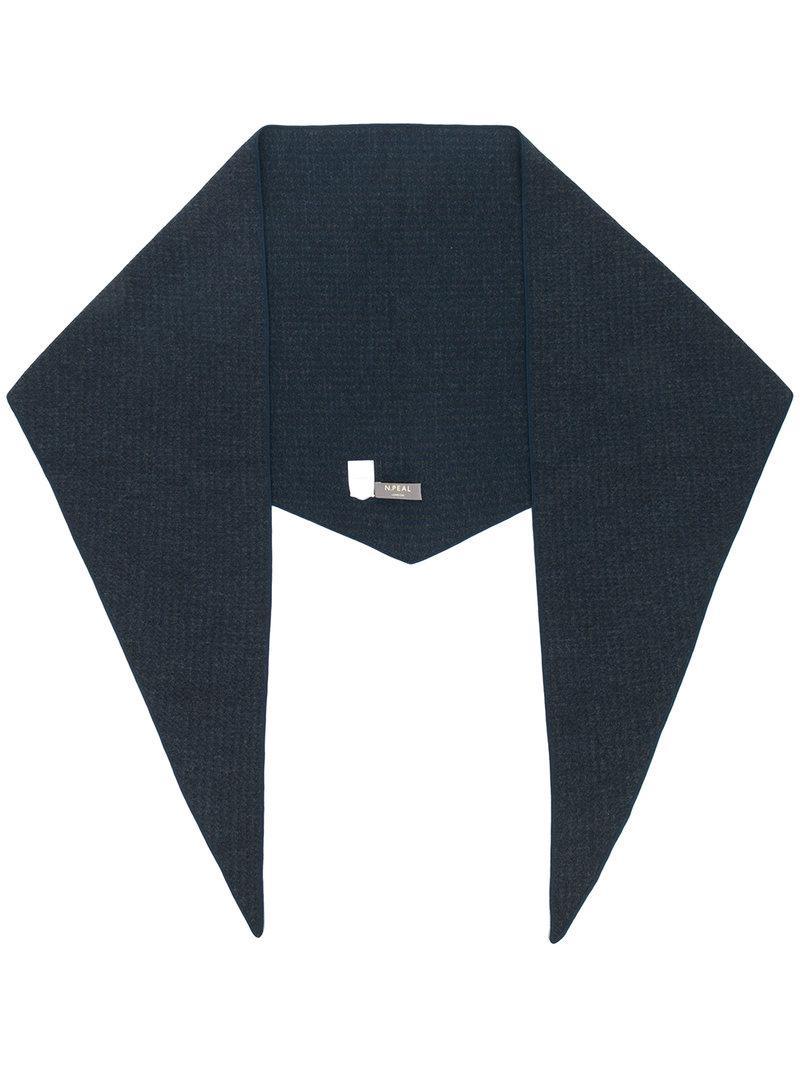 triangular scarf - Grey N.Peal POe0cMw