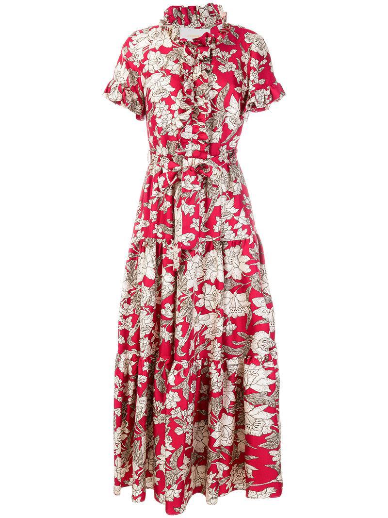 Lilium printed dress - Red La DoubleJ DEXeiVrn