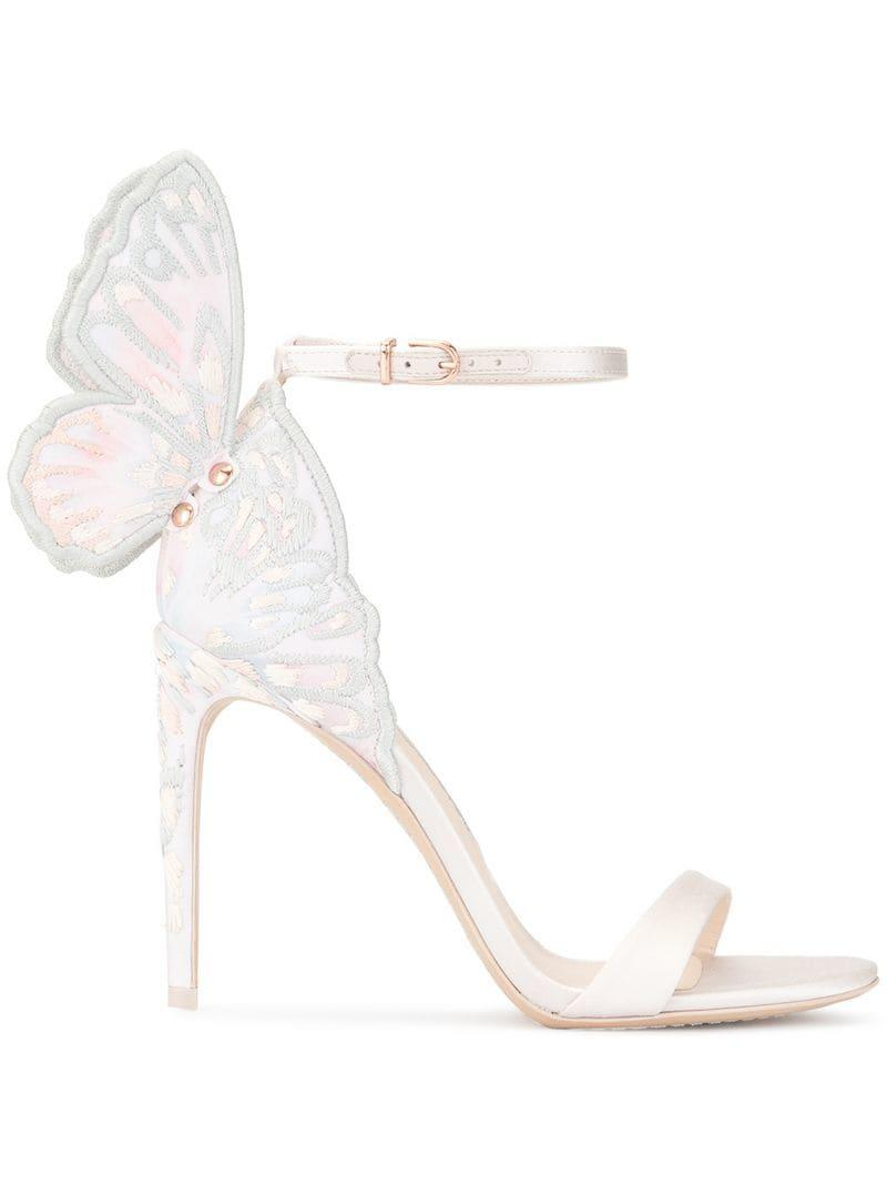 efef31697a Sophia Webster Embroidered Butterfly Detail Sandals in Pink - Lyst