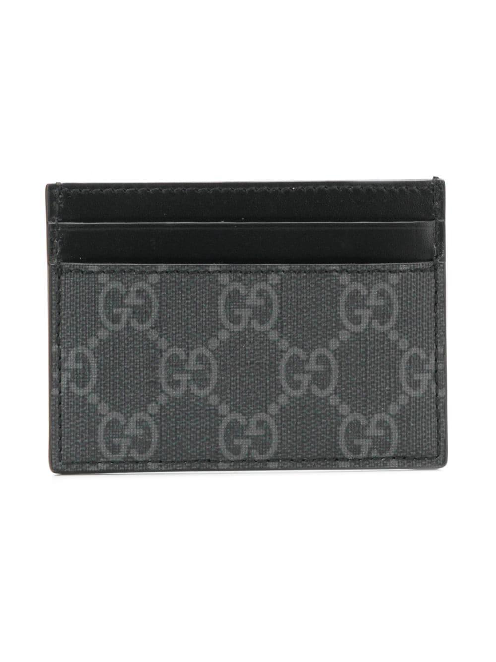 Lyst - Gucci GG Supreme Eagle Head Cardholder in Black for Men a389e2a7fab