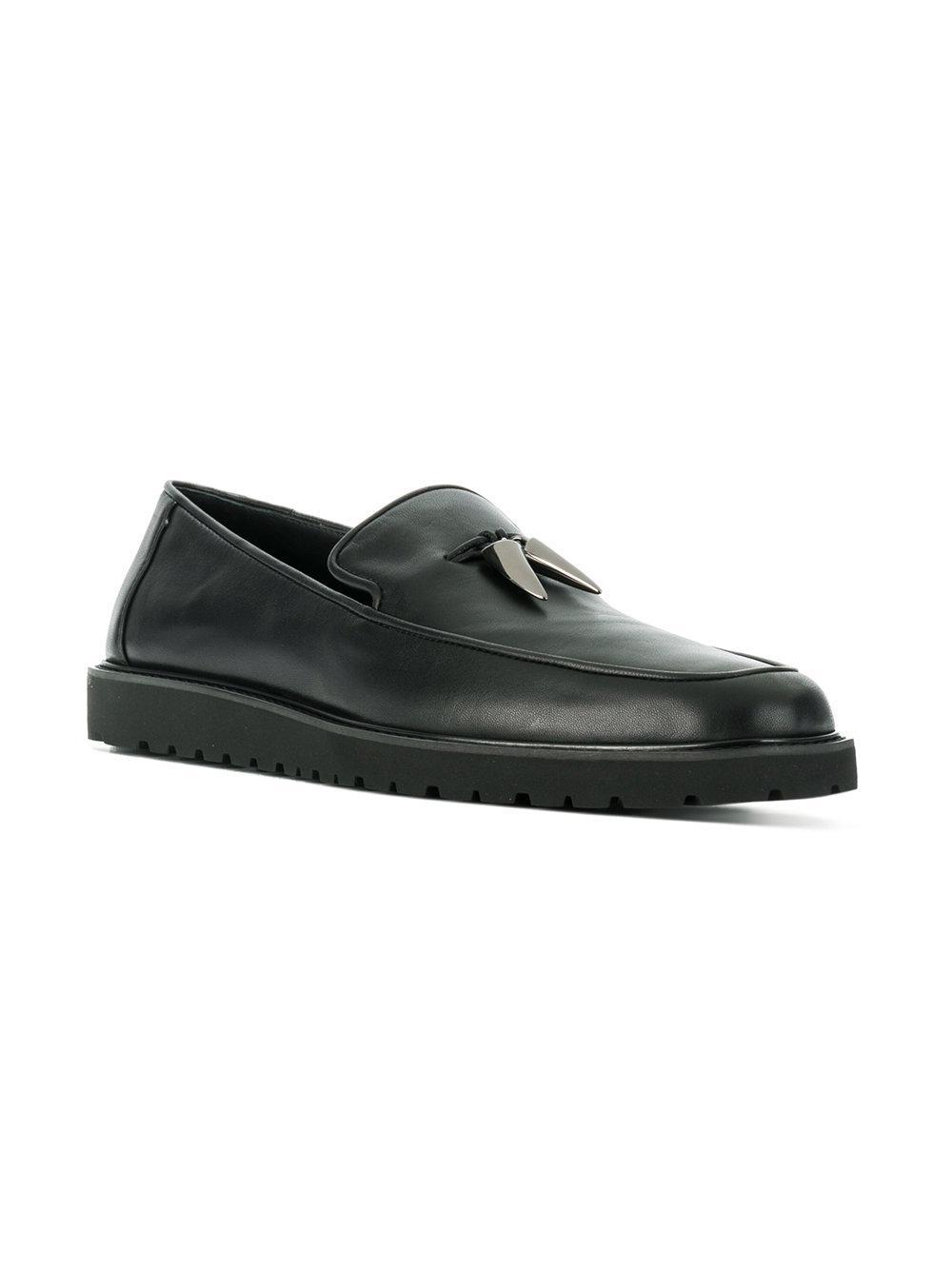 b5e3860eb19 Lyst - Giuseppe Zanotti Shark Tooth Loafers in Black for Men