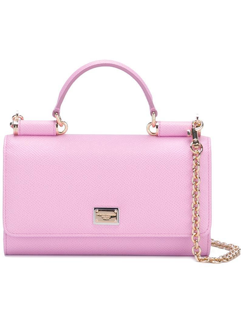 0a32d538d9 Lyst - Dolce   Gabbana Mini Von Wallet Crossbody Bag in Pink