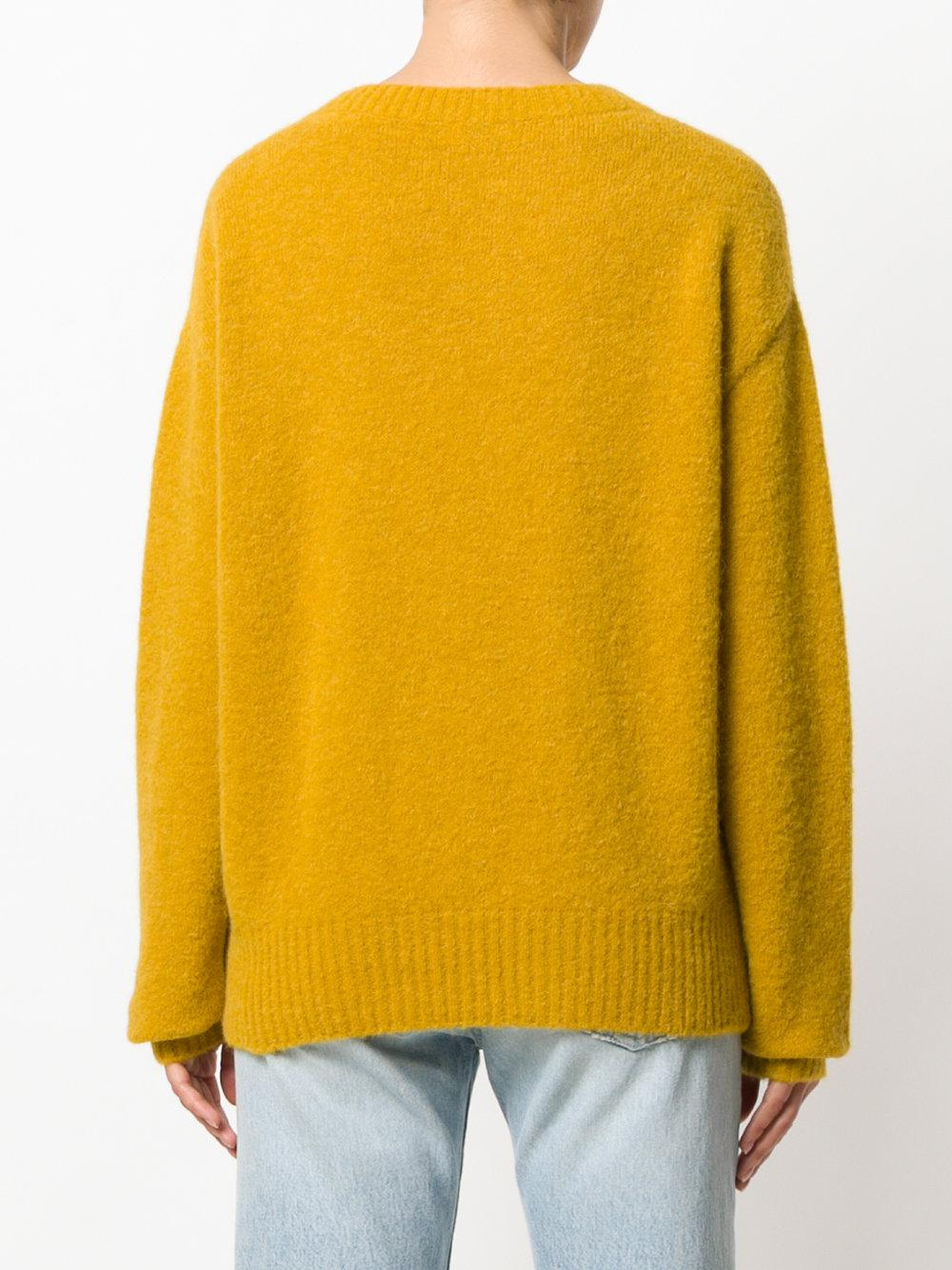 Closed Crew Neck Sweater in Yellow | Lyst