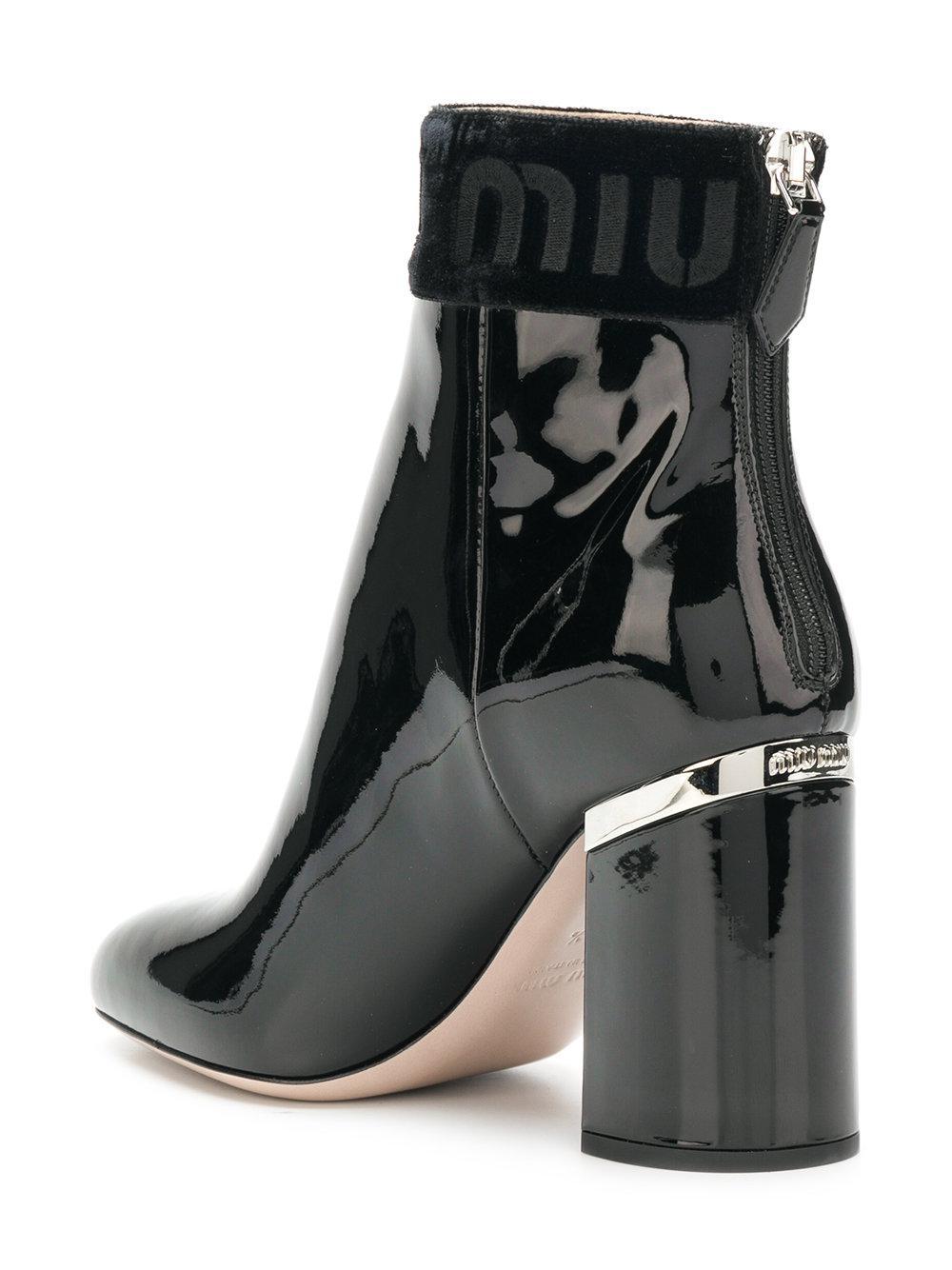 varnished logo boots - Black Miu Miu 9q2NMCC