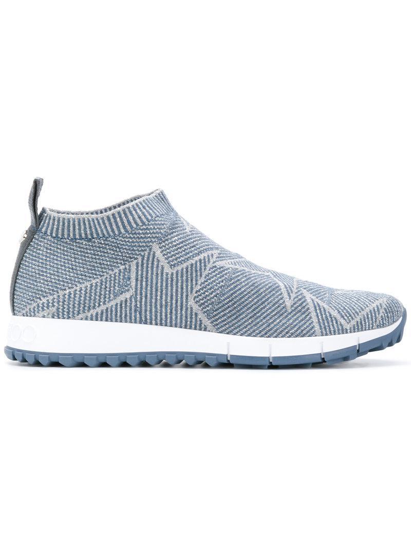 Jimmy choo Women's Norway Glitter Knit Slip-On Sneakers