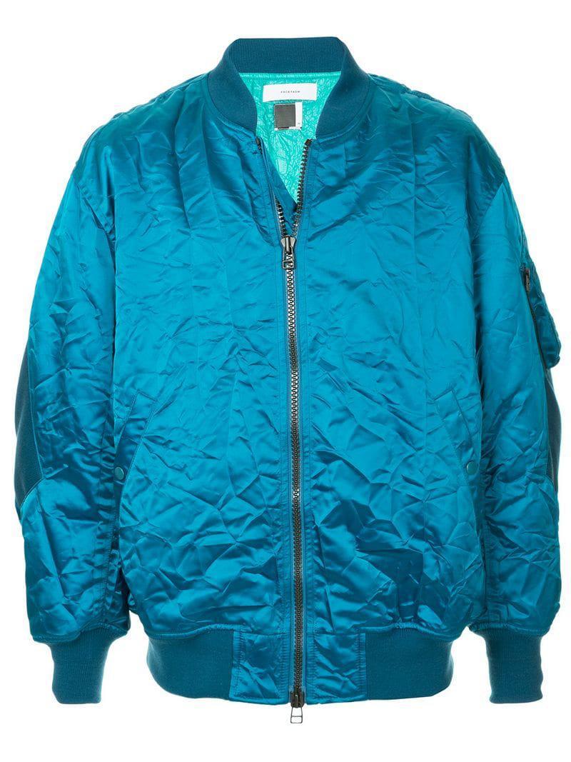Bleu Zipped Facetasm Lightweight Jacket Bleu Lightweight Facetasm Lightweight Jacket Facetasm Bleu Zipped xCU4PWw8q