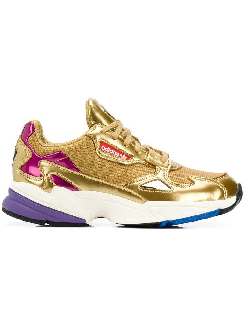 huge selection of ab18c 4b963 Lyst - adidas Falcon Sneakers in Metallic