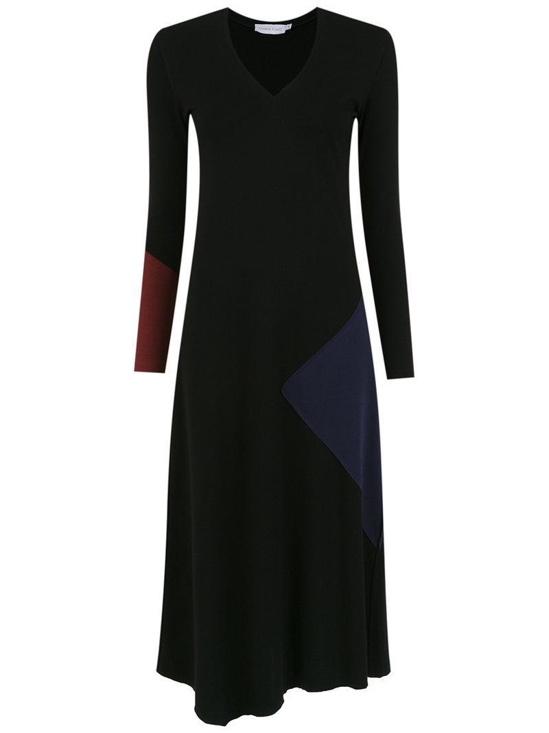 printed midi dress - Black Mara Mac n57cFaB