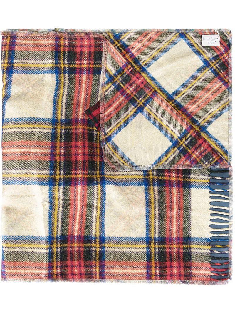 23adc0f28 Lyst - Pierre Louis Mascia Tartan Print Scarf in Blue