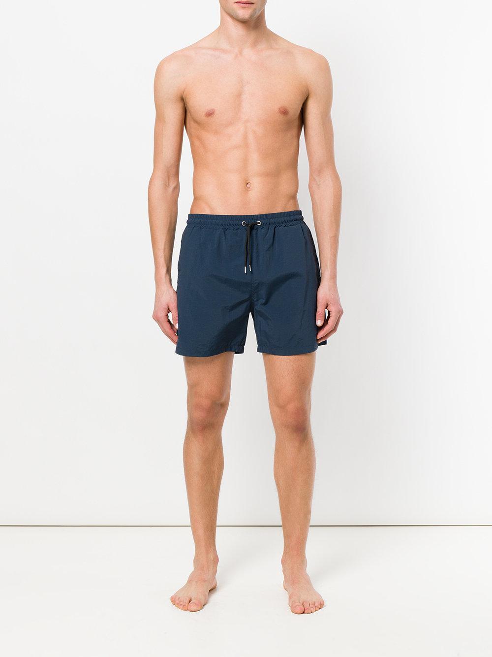 1522a7b848 Lyst - McQ Swallow Bagde Swim Trunks in Blue for Men
